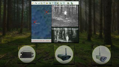 Zakupione zestawy składają się między innymi z czujników sejsmicznych oraz kamer weryfikujących alarm (fot. Straż Graniczna)