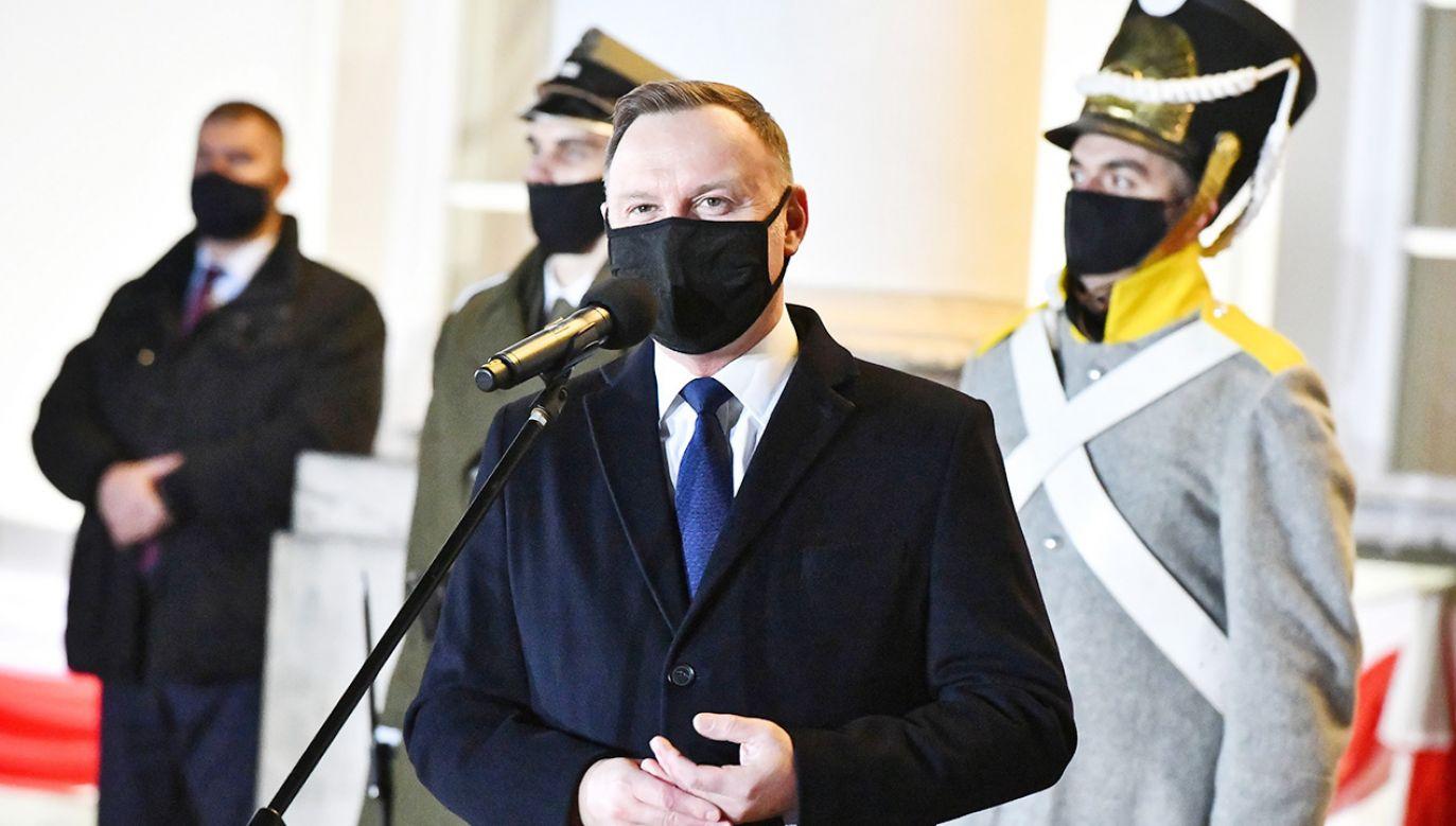 Prezydent odniósł się do rocznicy Powstania Listopadowego (fot. PAP/Andrzej Lange)