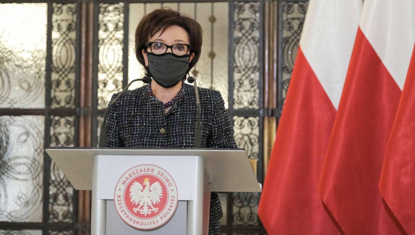 Marszałek Sejmu Elżbieta Witek (fot. PAP/Mateusz Marek)