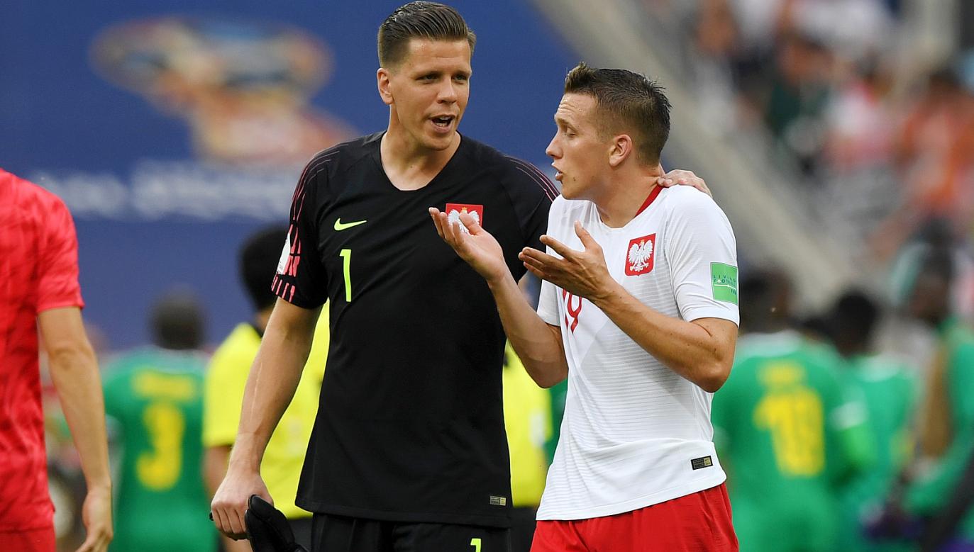 Wojciech Szczęsny (L) i Piotr Zieliński walczą między sobą o miejsce w Lidze Mistrzów (fot. Getty)