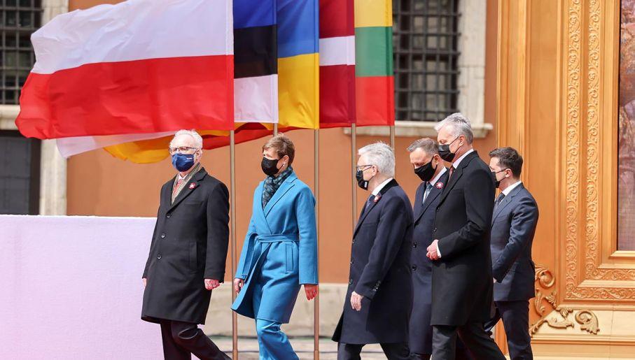 Prezydenci państw regionu na uroczystościach w Warszawie (fot. Grzegorz Jakubowski/KPRP)