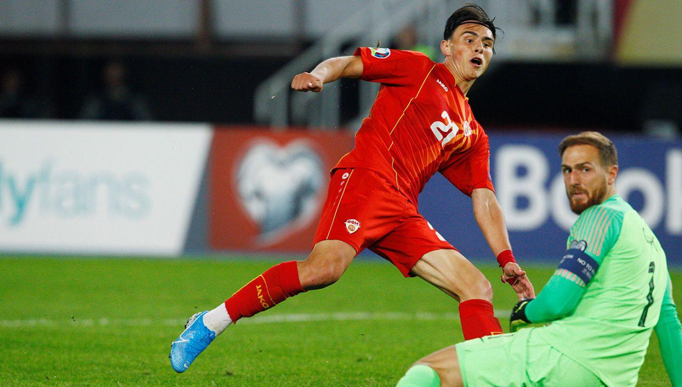 Elif Elmas to najgroźniejszy zawodnik Macedonii Północnej (fot. REUTERS/Ognen Teofilovski)