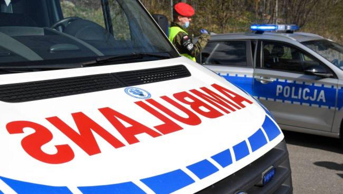 W wypadku poszkodowane zostały 23 osoby (fot.PAP/Darek Delmanowicz)