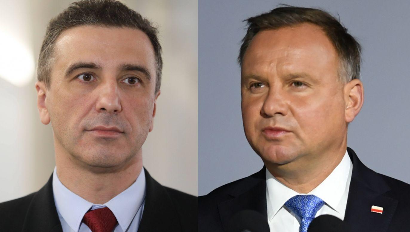 Jarosław Sachajko i prezydent RP Andrzej Duda (fot. PAP/Adam Warżawa, Leszek Szymański)