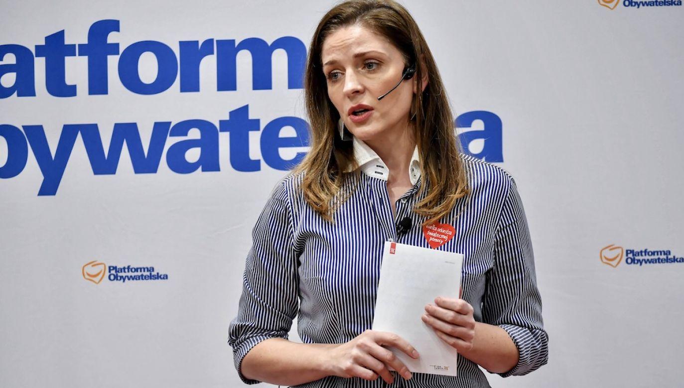 Posłanka PO odniosła się również do wielkich inwestycji publicznych (fot. arch.PAP/Wojtek Jargiło)