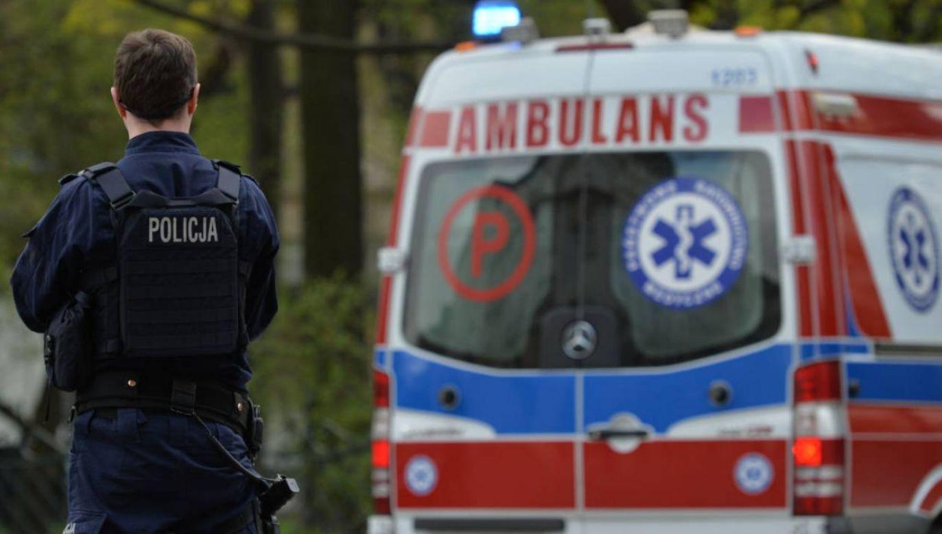 Rannych przewieziono do szpitala (fot.Artur Widak/NurPhoto via Getty Images)