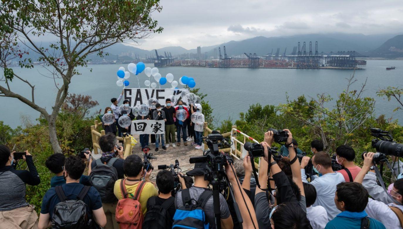 Zatrzymani brali udział w trwających od ponad roku antyrządowych demonstracjach (fot. Billy H.C. Kwok/Bloomberg via Getty Images)