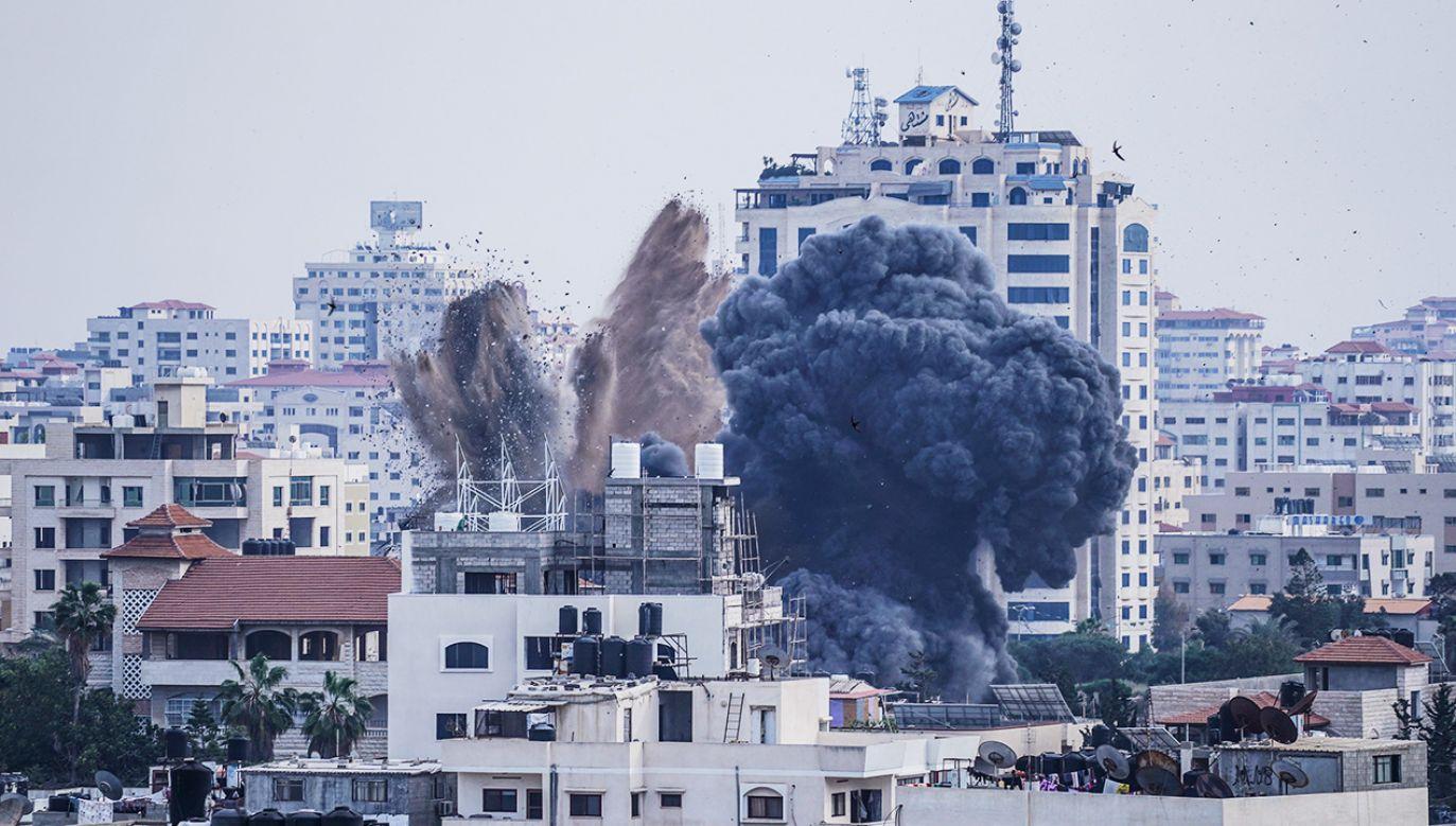 """""""Izrael skrzywdzi każdego, kto spróbuje go skrzywdzić"""" (fot. Mohamed Zarandah/SOPA Images/LightRocket via Getty Images)"""