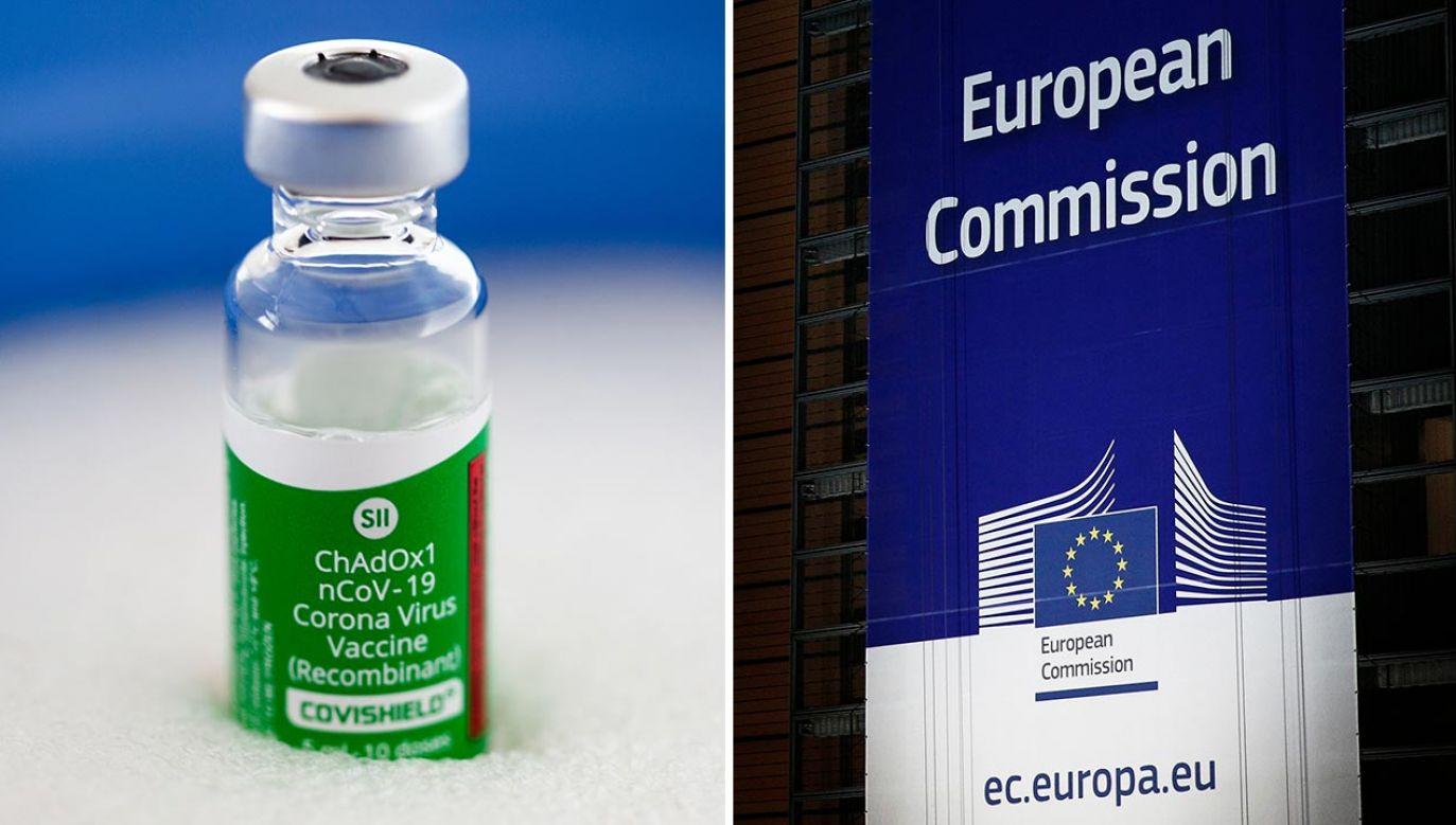 KE kontaktuje się z firmą AstraZeneca ws. dostaw szczepionek (fot. Rojan Shrestha/NurPhoto via Getty Images; Shutterstock/Alexandros Michailidis)