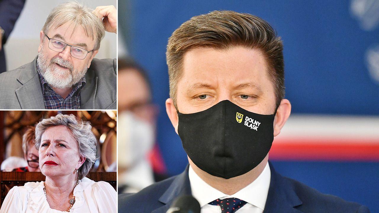 Michał Dworczyk o ambasadorach akcji szczepień (fot. PAP/Maciej Kulczyński; Leszek Szymański Łukasz Gągulski)