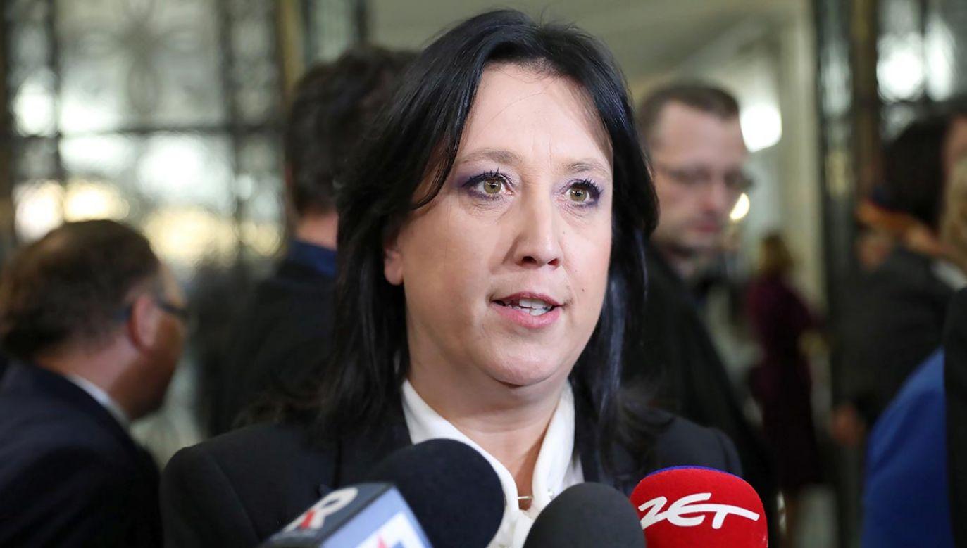 Rzeczniczka PiS Anita Czerwińska (fot. PAP/Leszek Szymański)