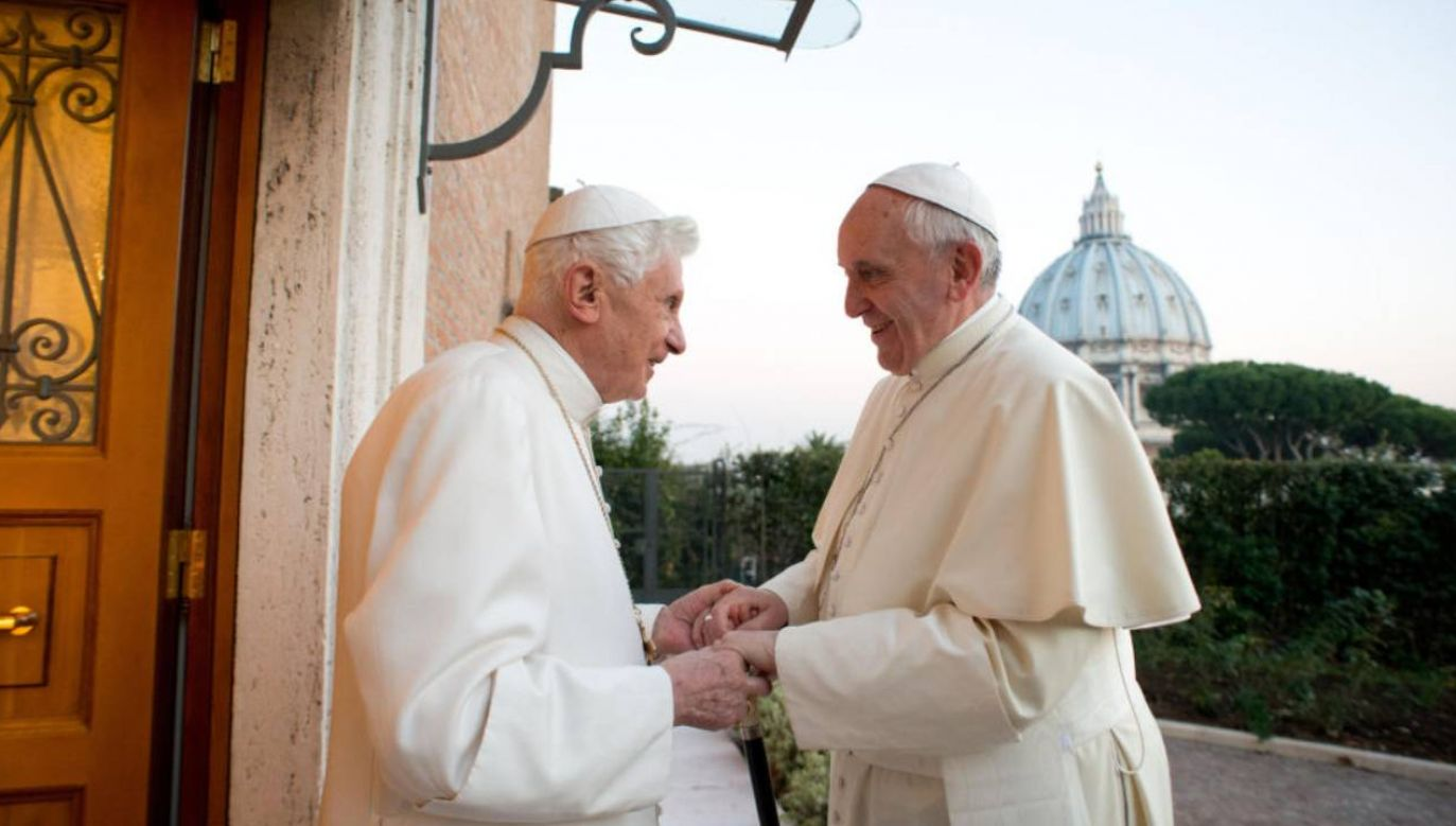Georg Ratzinger był starszym bratem Benedykta XVI (fot.Maurix/Gamma-Rapho via Getty Images)