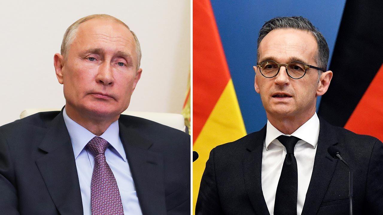 Władimir Putin i Heiko Maas (fot. Mikhail Klimentyev\TASS via Getty Images; PAP/EPA/Zoltan Mathe)