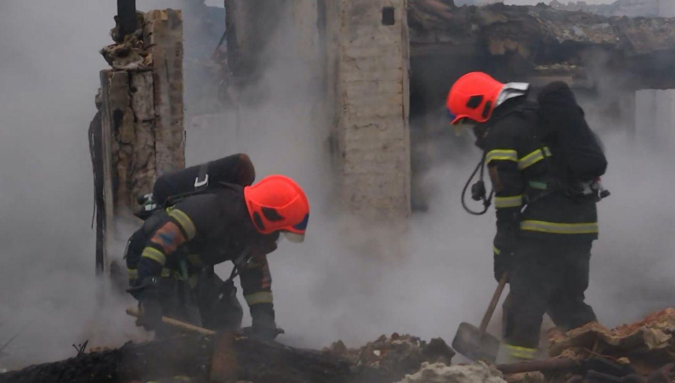 Strażacy ugasili pożar w studiu nagrań w Danii (fot. EBU/DKDR)