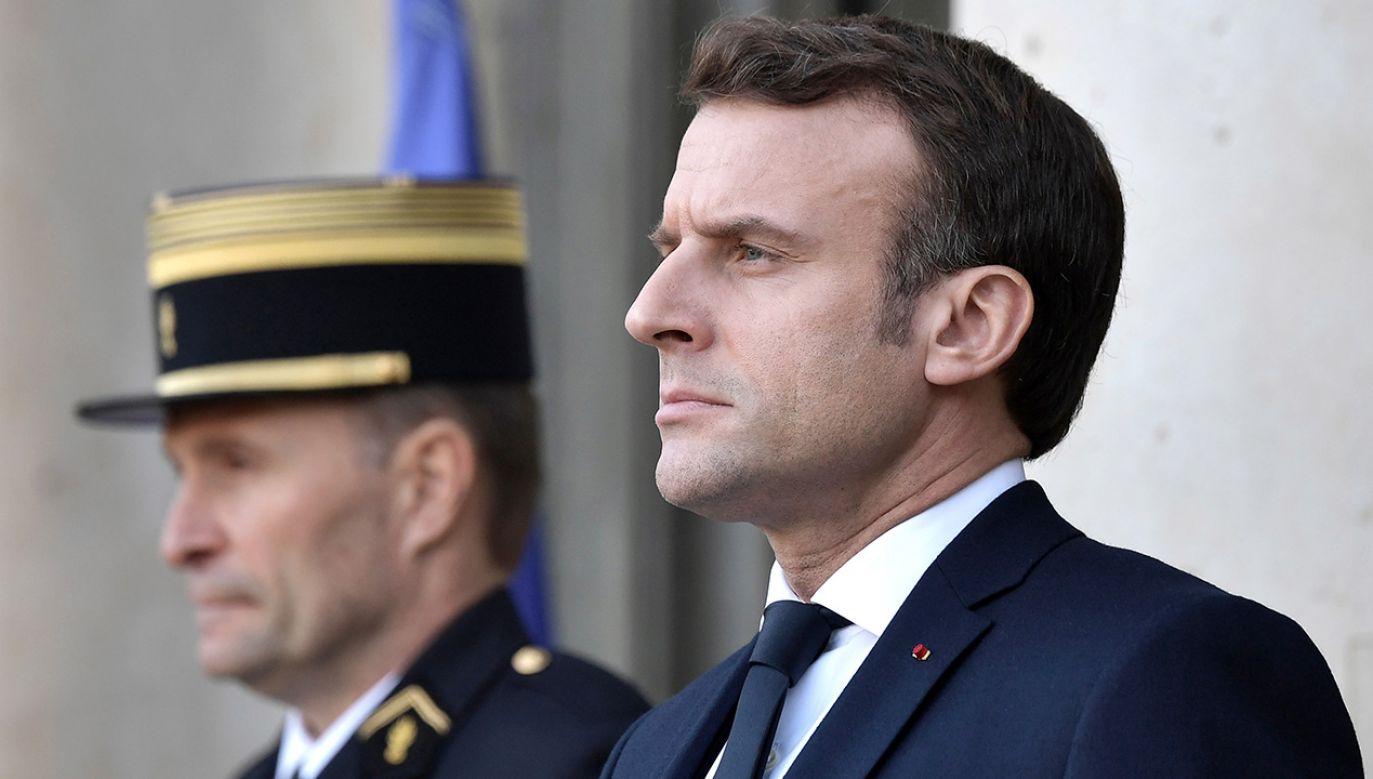 Emmanuel Macron jest autorem wielu kontrowersyjnych projektów reform UE i NATO (fot. Alexei Nikolsky\TASS via Getty Images)
