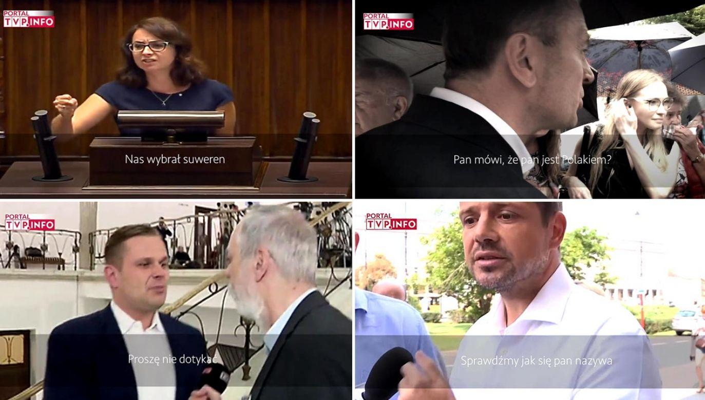 Polityka otwartej dłoni zdaje się być obca niektórym politykom KO (fot. portal tvp.info)