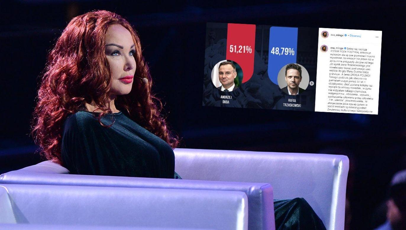 Projektantka Ewa Minge jest oburzona agresją wyborców kandydata KO (fot. PAP/StrefaGwiazd/Marcin Kmieciński)