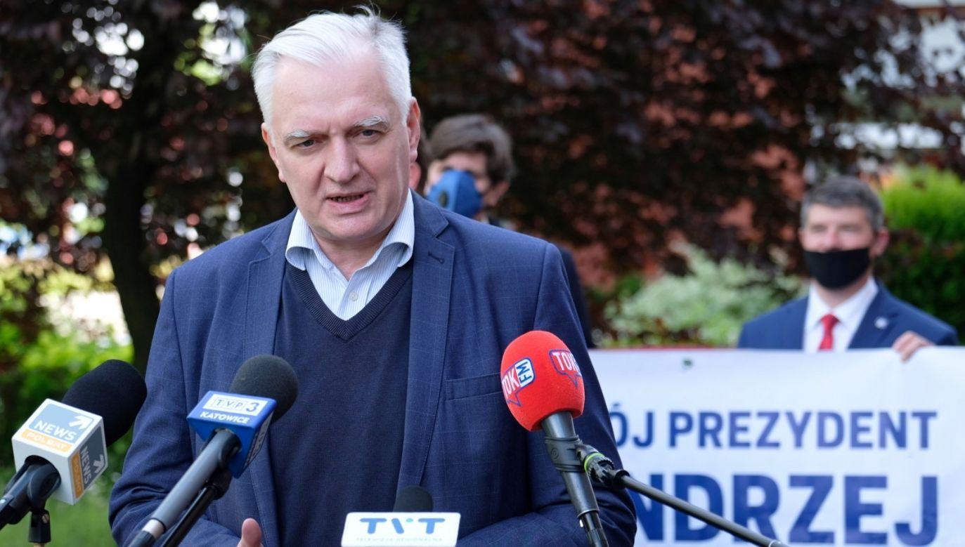 Jarosław Gowin (fot. PAP/Andrzej Grygiel)