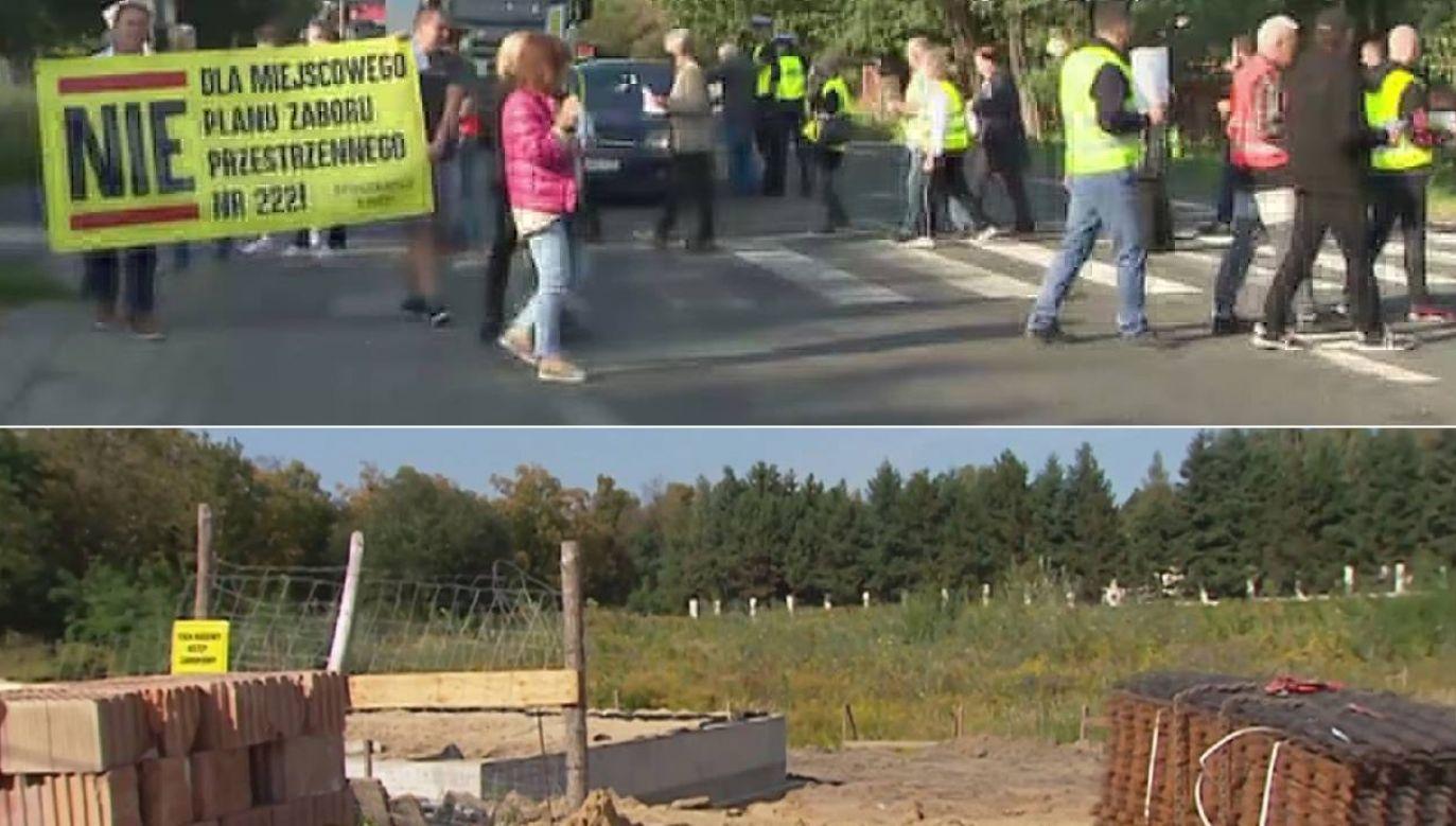 Mieszkańcy nie chcą kolejnych bloków w otulinie Lasu Łagiewnickiego (fot. TVP3 Łódź)