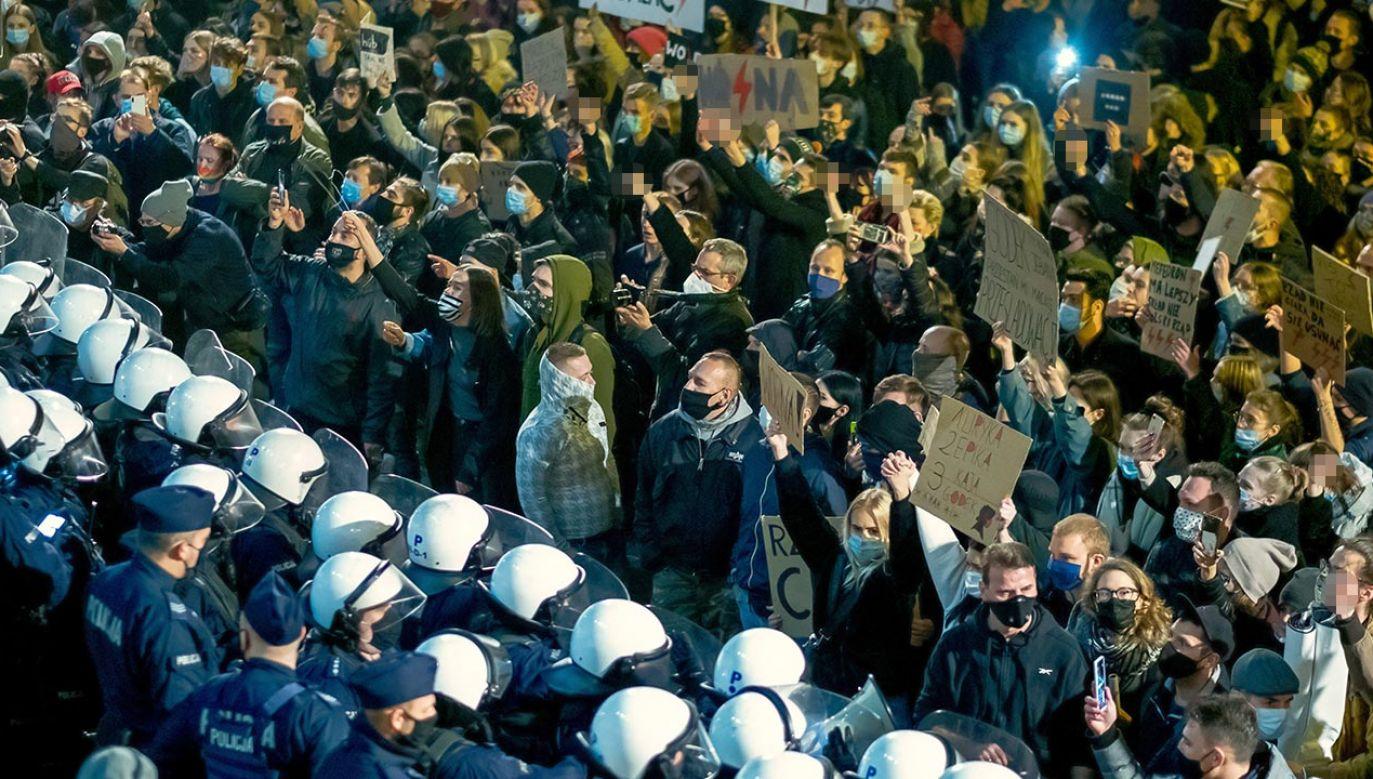 Joanna Lichocka o protestach proaborcyjnych (fot. PAP/Andrzej Grygiel)