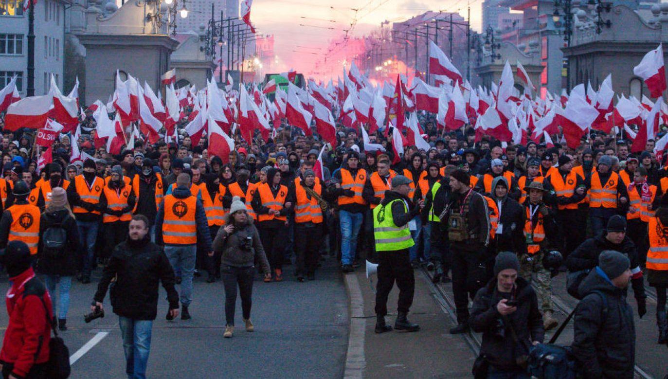 Marsz Niepodległości 2020. Czy przejdzie tak jak zwykle? (fot. Mateusz Wlodarczyk/ Getty Images)