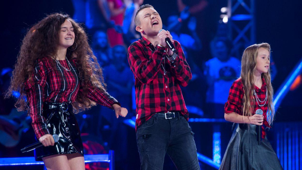 Każdy z zespołów przygotował utwór, w którym uczestnicy podzielili się partiami wokalnymi (fot.TVP)