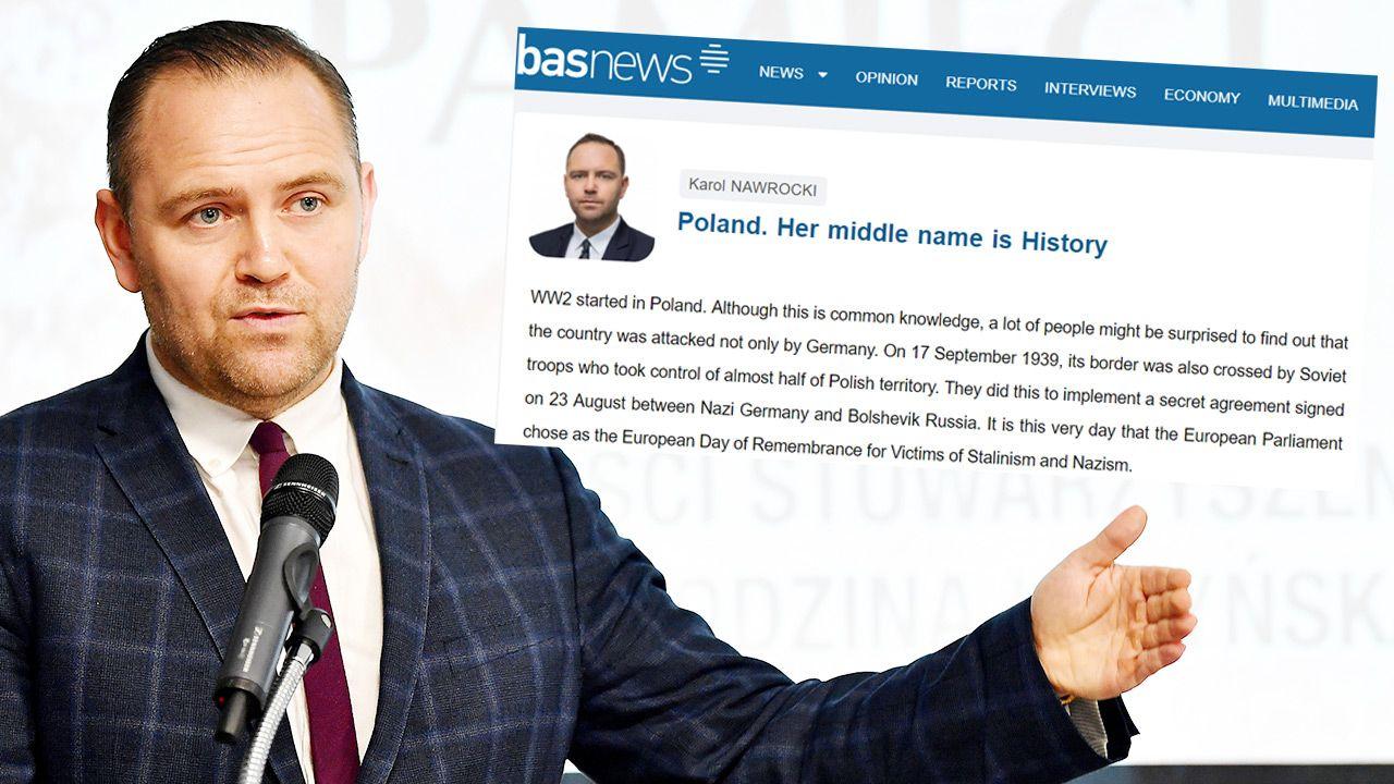Tekst Karola Nawrockiego ukazał się w kurdyjskim serwisie BasNews (fot. PAP/Piotr Polak)