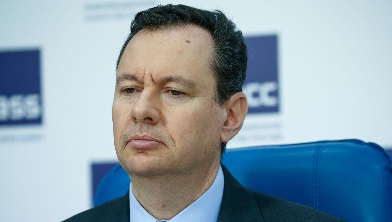 Jaakow Liwne pracę w resorcie spraw zagranicznych Izraela rozpoczął w 1992 roku (fot. Artyom Geodakyan\TASS via Getty Images)