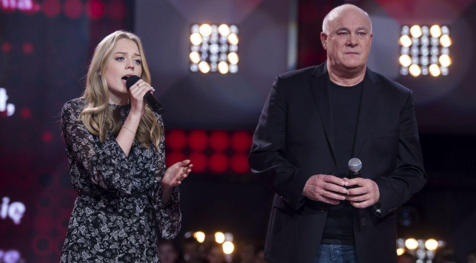 Jednak to jego koleżanka okazała się najlepsza. Natalia w finale mogła zaśpiewać z samym Ryszardem Rynkowskim (fot. TVP)