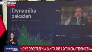 Konferencja ministra zdrowia. Nowe obostrzenia (fot. TVP Info)