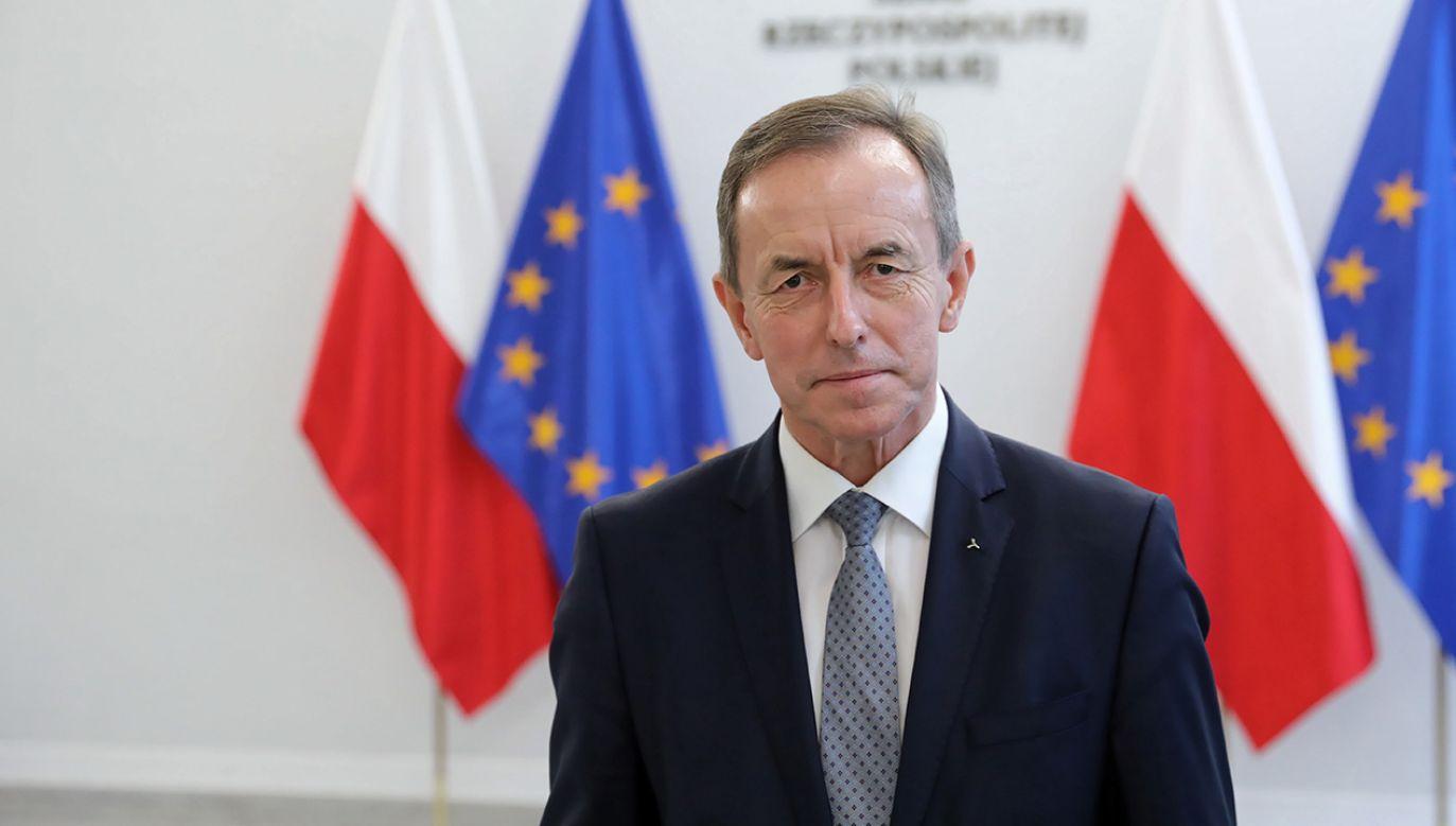 Marszałek Senatu wygłosił orędzie   (fot. arch.PAP/Leszek Szymański)
