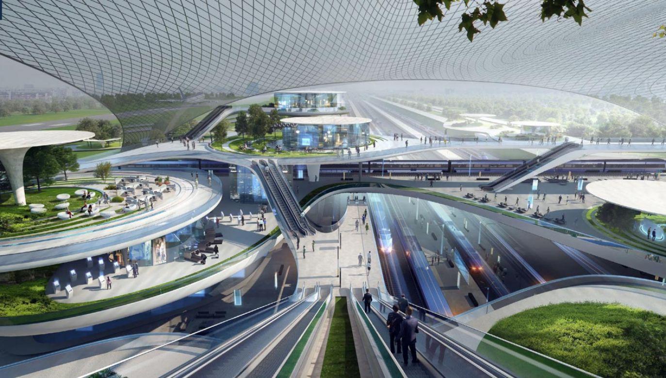 Według  autorów raportu plan budowy CPK jest typowym projektem prorozwojowym (fot. CPK/ Zaha Hadid Architects)
