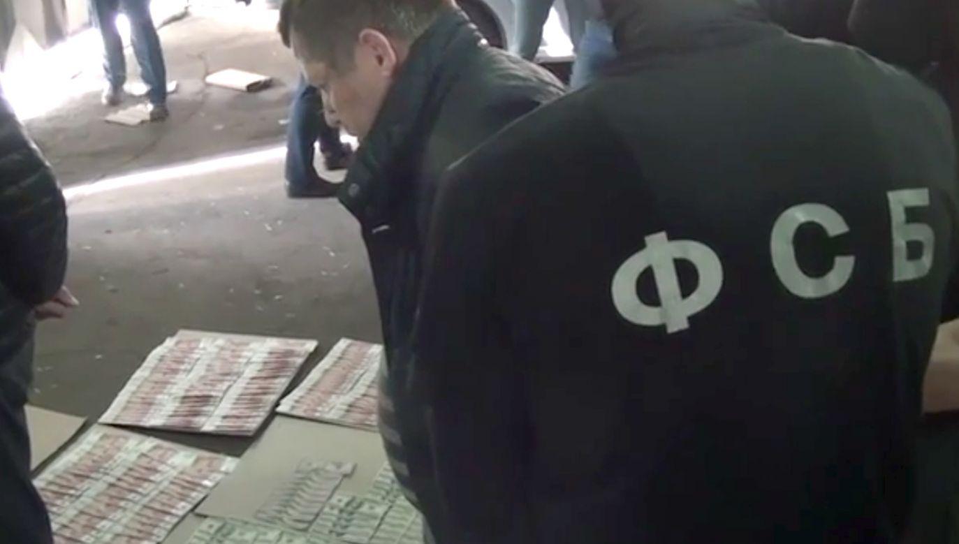 W kieszeni Polaka znaleziono banknoty dolarowe i rublowe (fot. FSB)