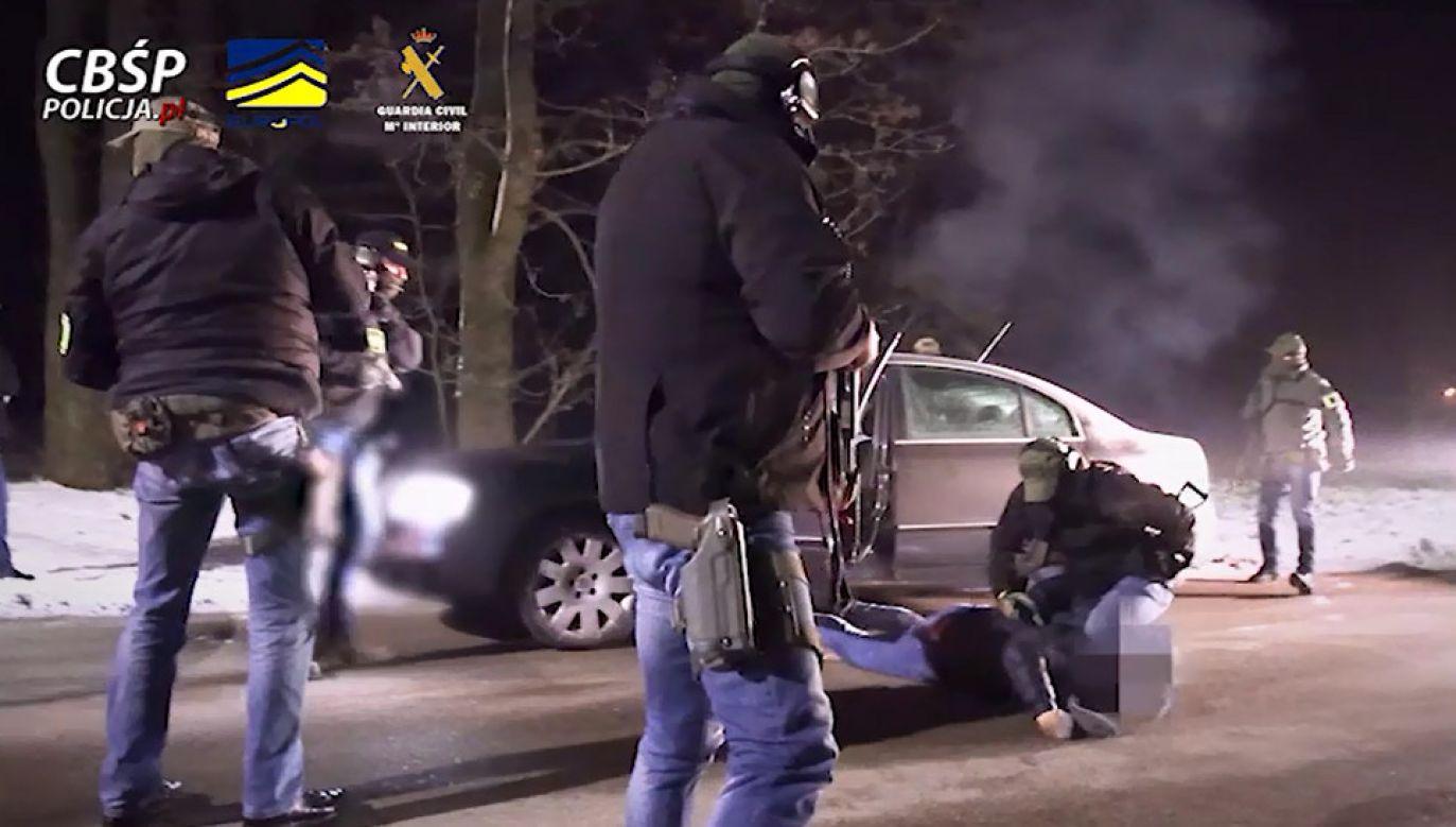 Zatrzymanie jednego z gangsterów (fot. CBŚP)