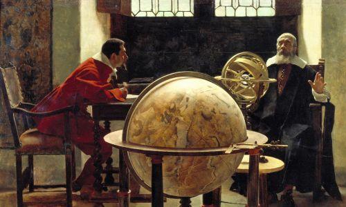 Galileo i Vincenzo Viviani. Z kolekcji Museo Galileo, Florencja. Fot. Fine Art Images / Heritage Images / Getty Images