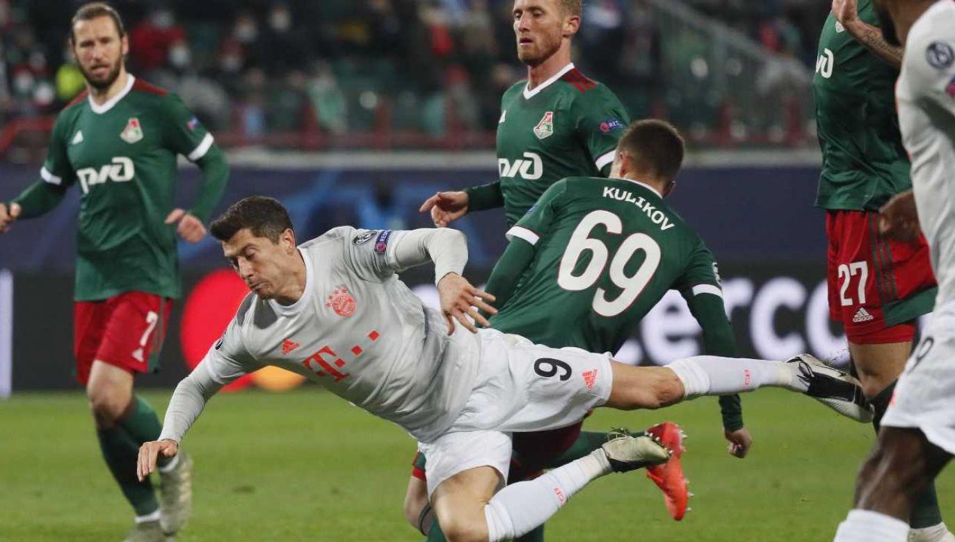 Robert Lewandowski tym razem gola nie strzelił (fot. PAP/EPA/Maxim Shipenkov / POOL)