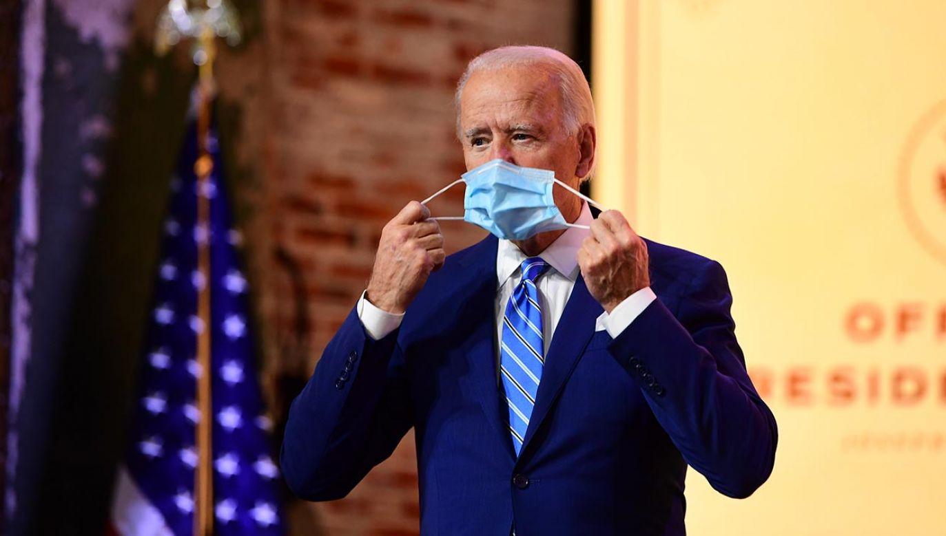 Joe Biden o maseczkach  i szczepionkach (fot. Mark Makela/Getty Images)