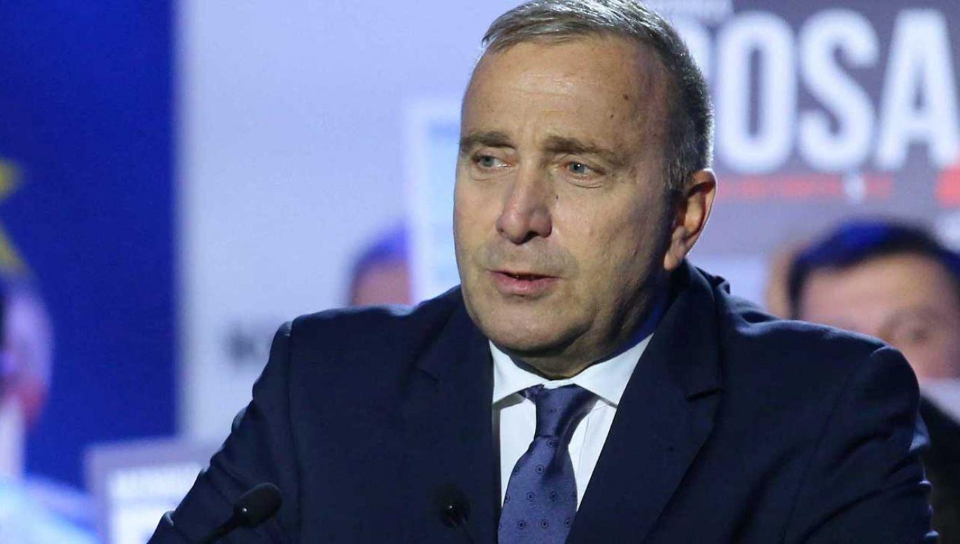 Grzegorzowi Schetynie, szefowi PO ufa co trzeci zwolennik Koalicji Obywatelskiej (fot. PAP/Andrzej Grygiel)