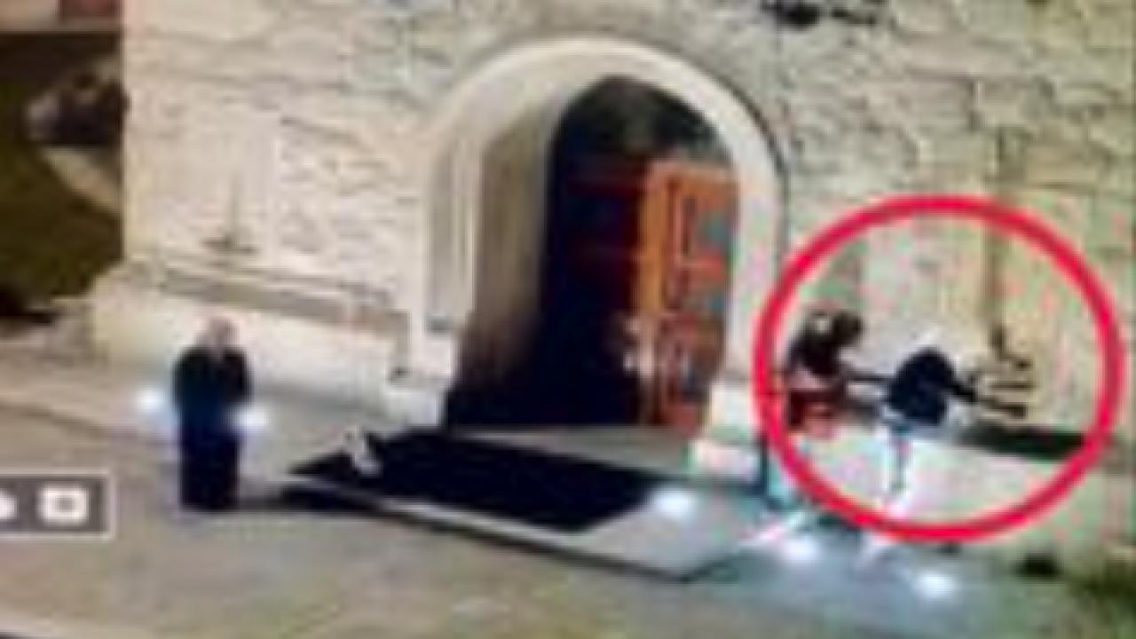 Myślenice. Zapis monitoringu z niszczenia świątyni (myslenicka24.pl)