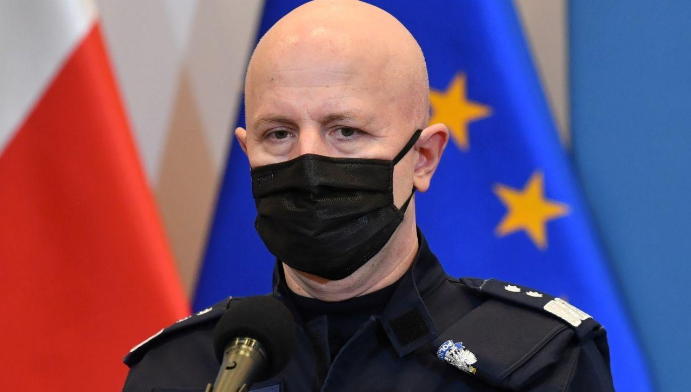 Komendant Główny Policji Jarosław Szymczyk (fot. arch. PAP/Radek Pietruszka)