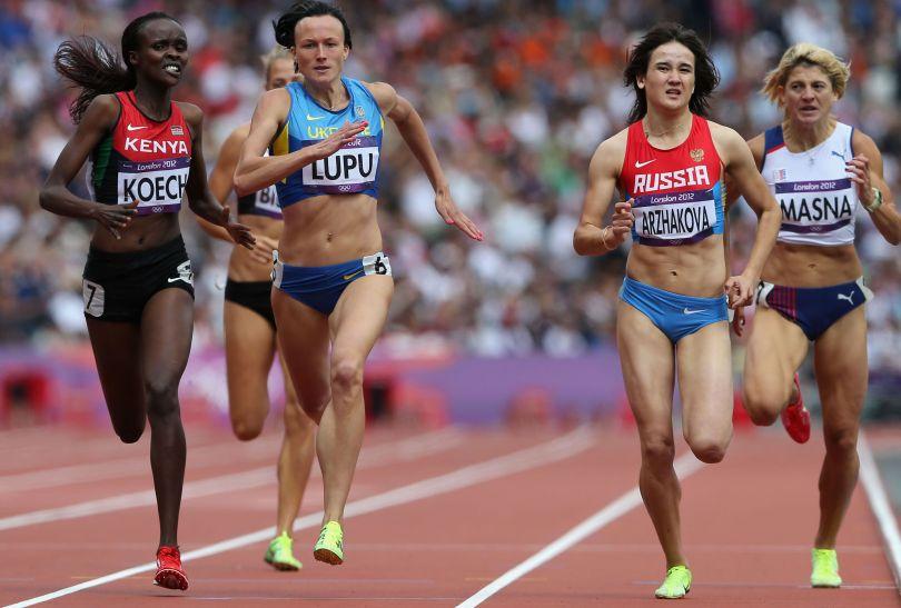 Kenijka, Ukrainka i Rosjanka awansowały do półfinału biegu na 800 metrów (fot. Getty Images)