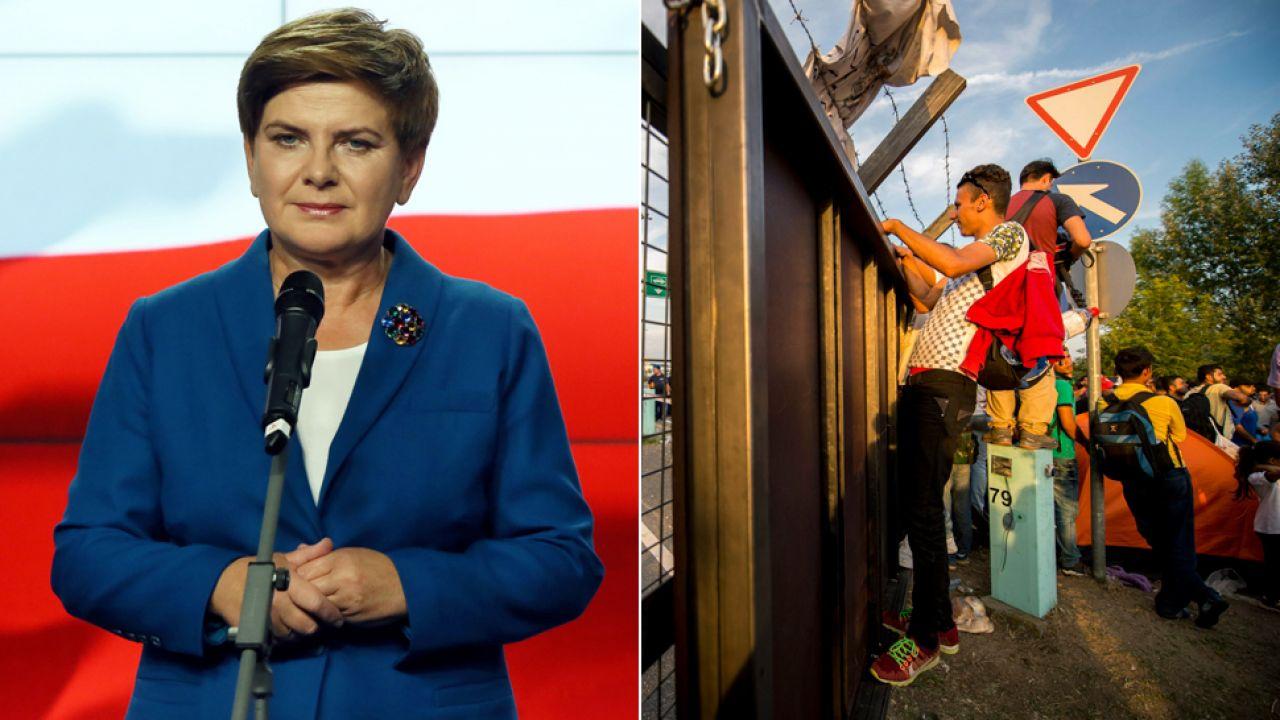 Beata Szydło zarzuca rządowi brak wyraźnego stanowiska w sprawie uchodźców (fot. PAP/Tomasz Gzell/EPA/TAMAS SOKI)