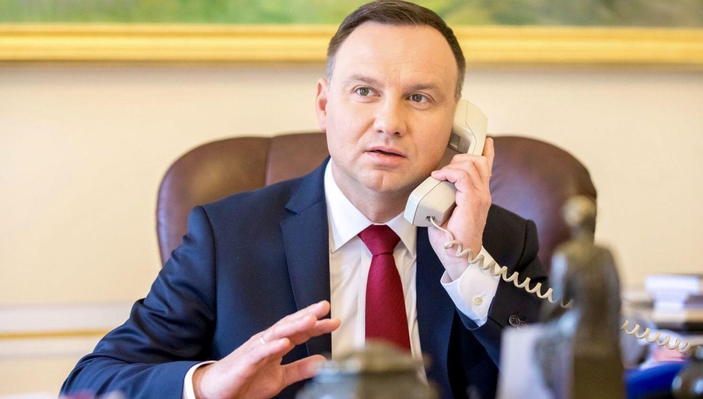 Andrzej Duda odniósł się także do słów swojej córki oraz do ataków skrajnej lewicy na kościoły (fot. Andrzej Hrechorowicz/KPRP)