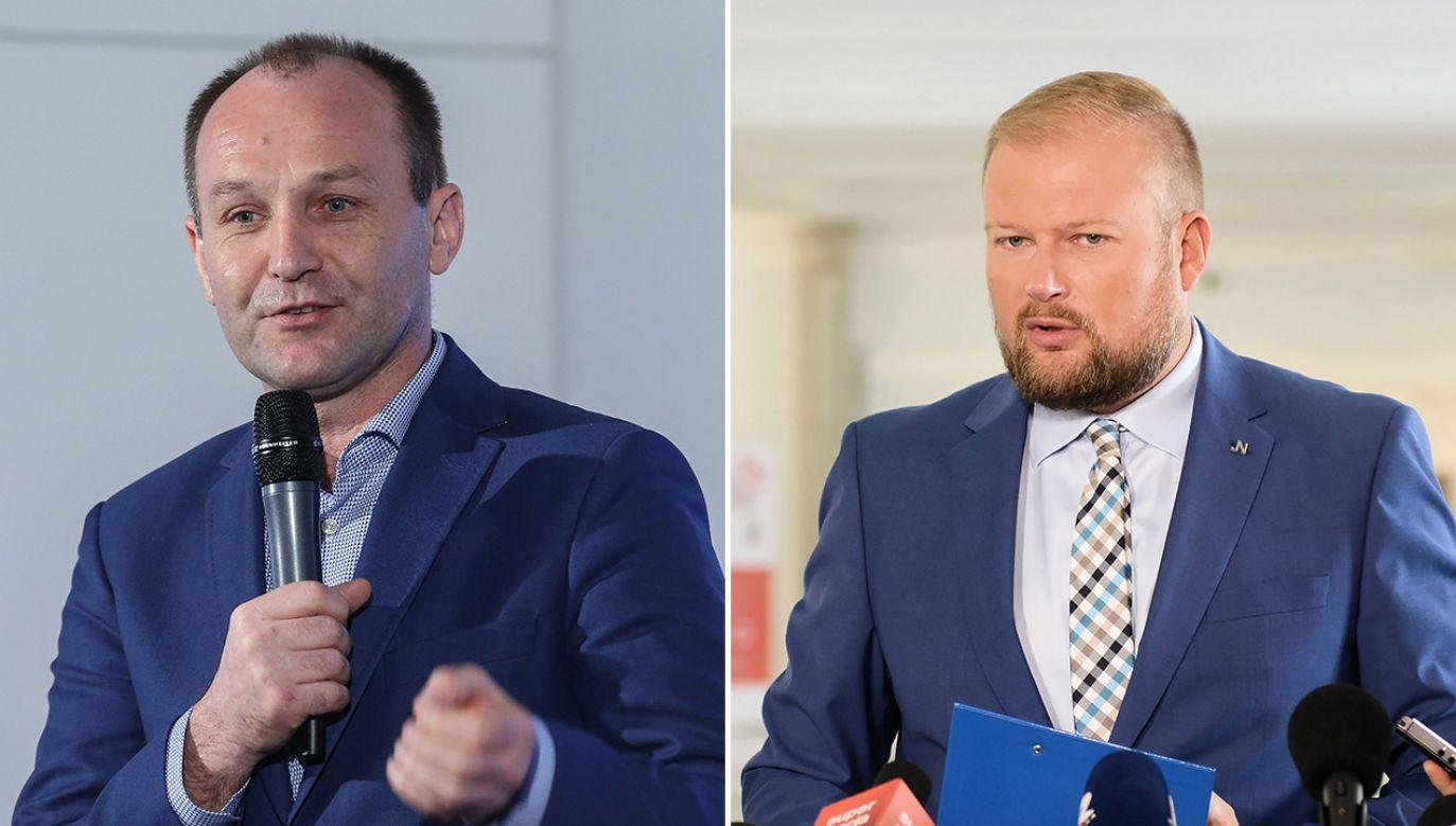 Wycięcie kilku słów wypowiedzi polityka PiS sprawiło, że całkowicie zmieniłsięjej sens (fot. PAP/Rafał Guz, Jakub Kamiński)
