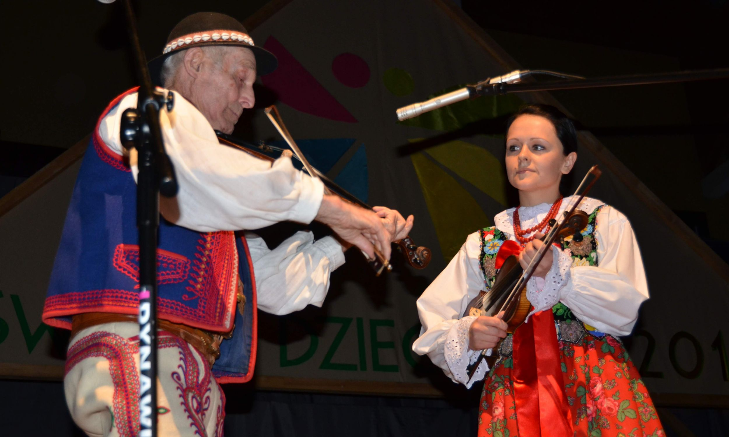 Franciszek Kurzeja i Monika Kurzeja, Święto Dzieci Gór w 2011 r. Fot. Piotr Gryźlak, ze zbiorów Małopolskiego Centrum Kultury SOKÓŁ w Nowym Sączu