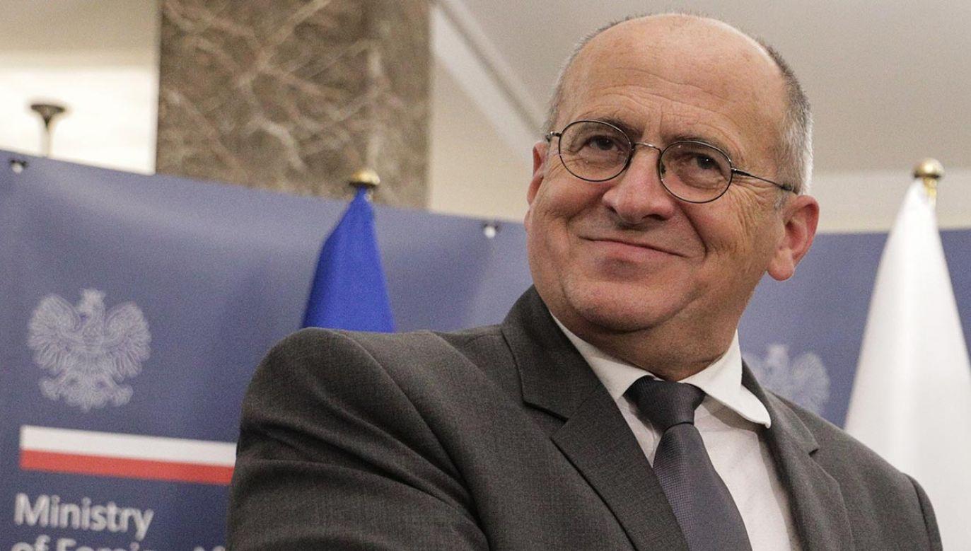 Zbigniew Rau zastąpił na stanowisku szefa MSZ Jacka Czaputowicza (fot.  Forum/Andrzej Hulimka)