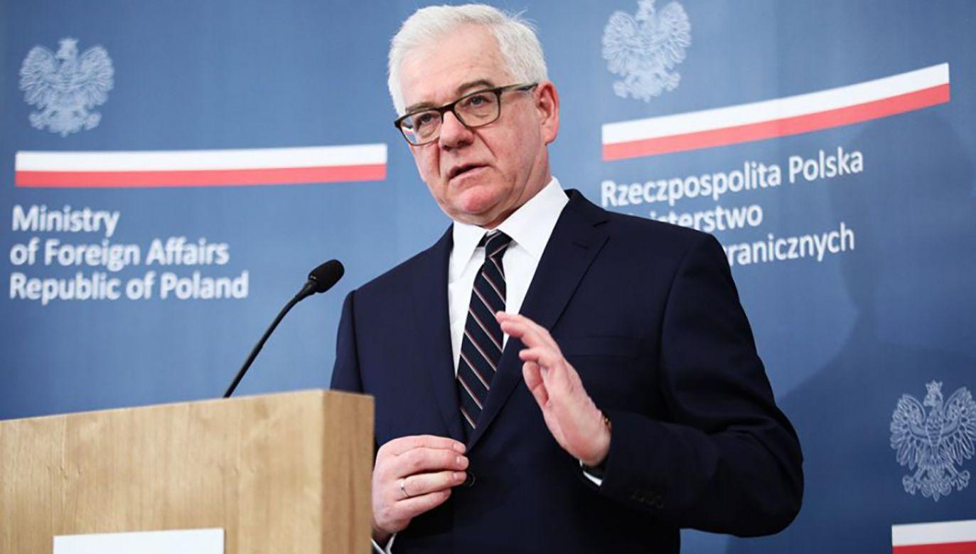 Minister spraw zagranicznych Jacek Czaputowicz (fot. PAP/ Leszek Szymański)