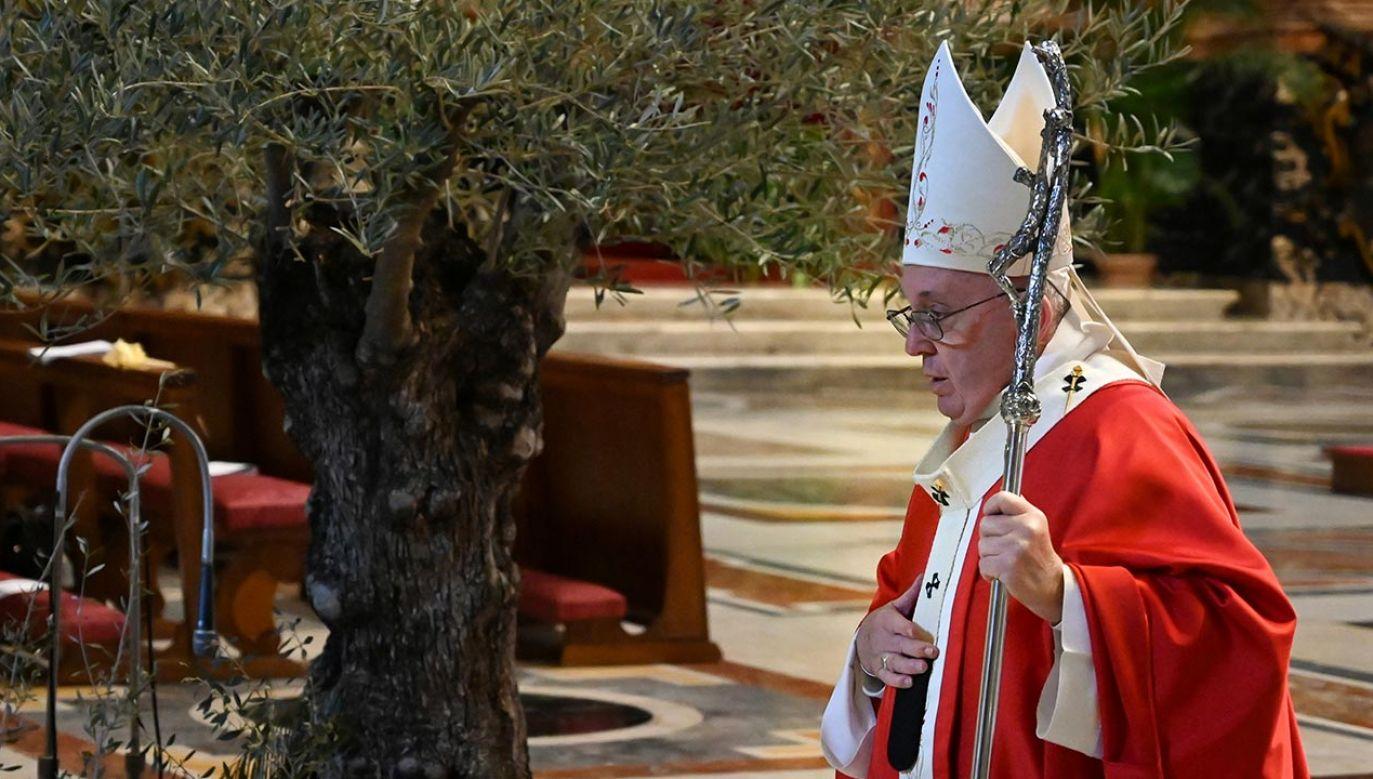 Papież Franciszek (fot. Alberto Pizzoli/Pool via REUTERS)