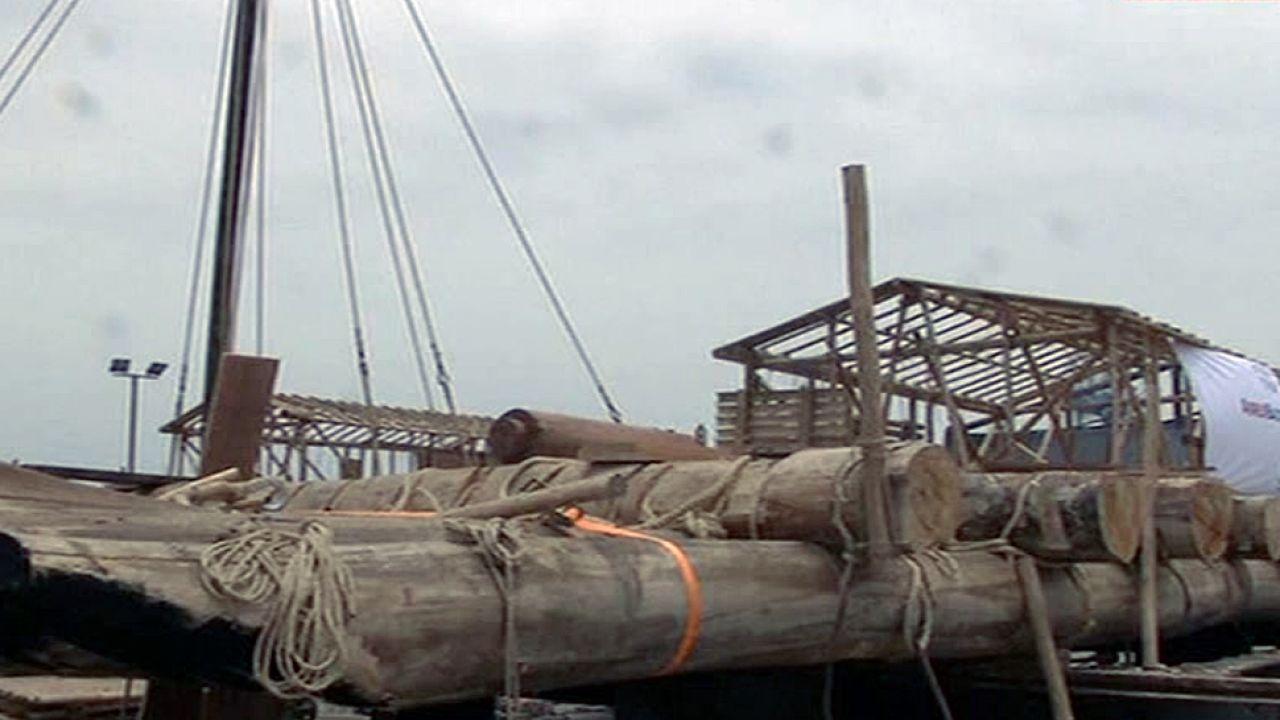 Podróż z Peru do Oceanii ma potrwać około 6 tygodni (fot. TVP Info)