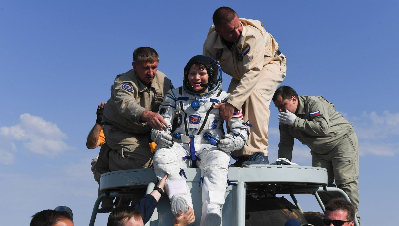 Astronautka na pokładzie ISS w 2018 roku miała korzystać z prywatnego konta współmałżonki, z którą była w separacji (fot. arch. PAP/ITAR-TASS/Sergei Mamontov)